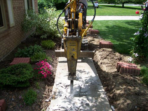 cincinnati concrete sidewalk and walkway removal